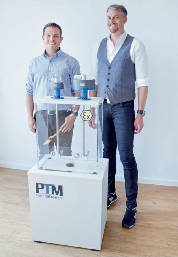 PTM Geschäftsführer Carsten Angermeyer und Christian Maier von Maier Heidenheim