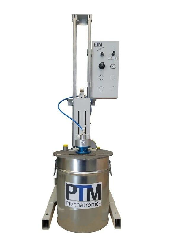 Pneumatische Hubstation für effiziente ATEX Rührwerkstechnik