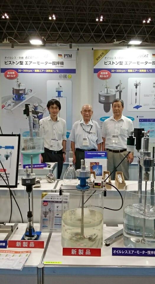 PTM Druckluftmotor auf Messe in Japan