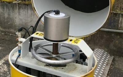 Compressed air motor as a helper in case of an emergency