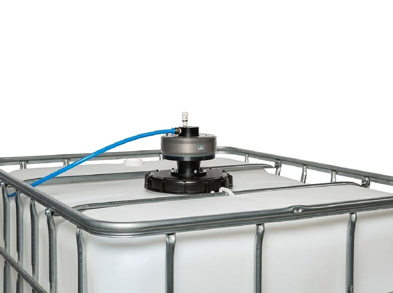IBC container agitator – a flyweight