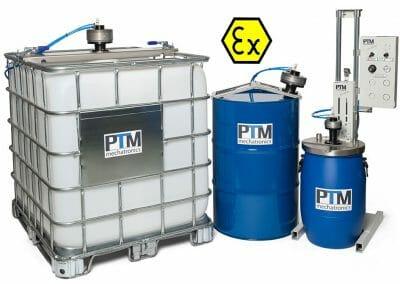 ATEX Rührwerke für IBC Container, Fässer, Kunststofffässer zum Aufrühren von Desinfektionsmitteln