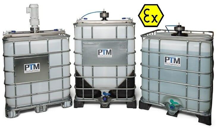 Containerrührwerke elektrisch und pneumatisch mit ATEX Zertifizierung für alle Containergrößen ATEX