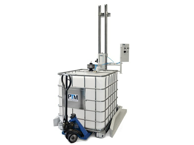 IBC tripod agitator with container agitator and lifting station, ATEX certied