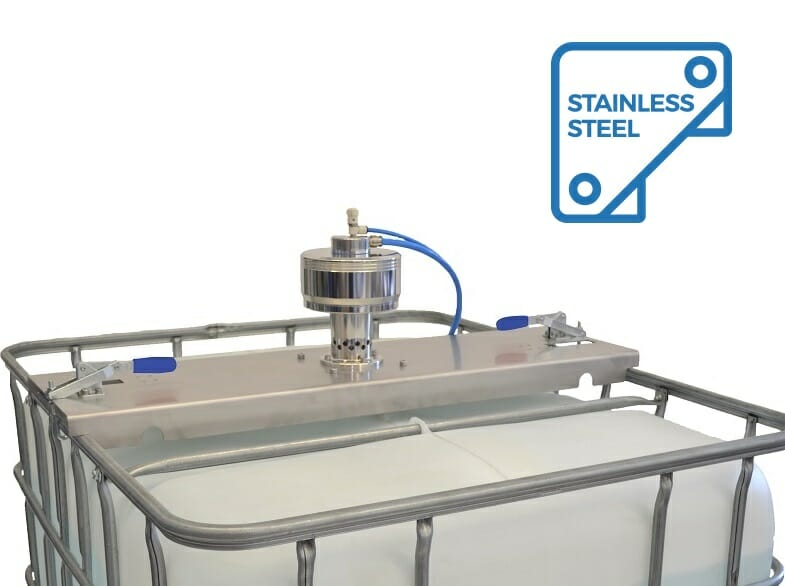 ATEX stainless steel container agitator with traverse