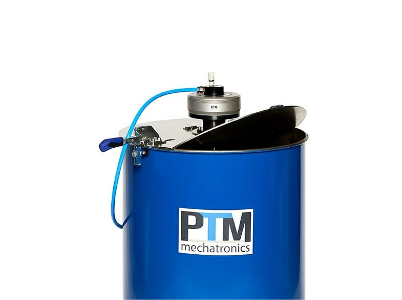 ATEX drum agitator with flange and impeller for mixing in various lid sealed containers