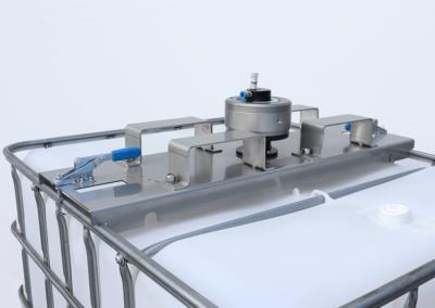 IBC Container Rührwerk mit Traverse und Staplerhaken