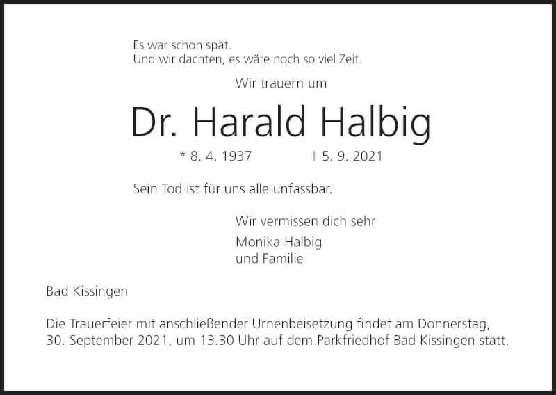 PTM trauert um ihren langjährigen Berater Dr. Harald Halbig